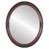 Flat Mirror - Jefferson Oval Frame - Rosewood