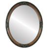 Flat Mirror - Jefferson Oval Frame - Walnut