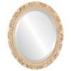 Beveled Mirror - Rome Oval Frame - Antique White