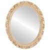 Flat Mirror - Rome Oval Frame - Antique White