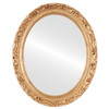 Flat Mirror - Rome Oval Frame - Gold Paint