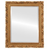 Beveled Mirror - Rome Rectangle Frame - Gold Paint