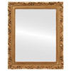 Flat Mirror - Rome Rectangle Frame - Gold Paint