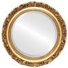Beveled Mirror - Rome Round Frame - Antique Gold Leaf
