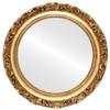 Flat Mirror - Rome Circle Frame - Antique Gold Leaf