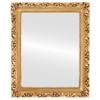 Flat Mirror - Rome Rectangle Frame - Antique Gold Leaf