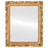 Flat Mirror - Rome Rectangle Frame - Gold Leaf