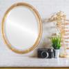 Lifestyle - Saratoga Oval Frame - Champagne Gold