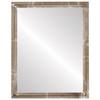 Flat Mirror - Saratoga Rectangle Frame - Champagne Silver