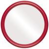 Flat Mirror - Saratoga Circle Frame - Holiday Red