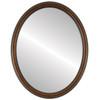 Flat Mirror - Saratoga Oval Frame - Walnut