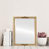 Flat Mirror - Contessa Rectangle Frame - Gold Leaf