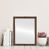 Flat Mirror - Contessa Rectangle Frame - Vintage Walnut