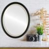 Lifestyle - Hamilton Oval Frame - Gloss Black with Gold Lip