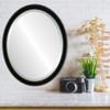 Flat Mirror - Toronto Oval Frame - Gloss Black