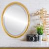 Lifestyle - Toronto Oval Frame - Gold Leaf
