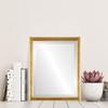 Flat Mirror - Toronto Rectangle Frame - Gold Leaf