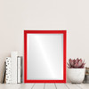 Flat Mirror - Toronto Rectangle Frame - Holiday Red