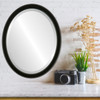 Flat Mirror - Toronto Oval Frame - Matte Black