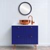 Flat Mirror - Toronto Circle Frame - Royal Blue