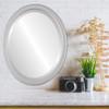 Flat Mirror - Toronto Oval Frame - Silver Spray