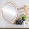 Flat Mirror - Toronto Oval Frame - Taupe