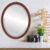 Flat Mirror - Toronto Oval Frame - Vintage Walnut
