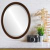 Flat Mirror - Toronto Oval Frame - Walnut