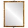 Flat Mirror - Athena Rectangle Frame - Champagne Gold