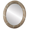 Flat Mirror - Philadelphia Oval Frame - Champagne Silver