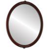 Flat Mirror - Athena Oval Frame - Vintage Cherry