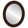 Flat Mirror - Soho Oval Frame - Mocha