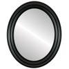 Flat Mirror - Philadelphia Oval Frame - Gloss Black