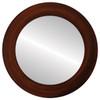 Flat Mirror - Soho Circle Frame - Mocha