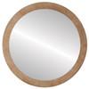 Flat Mirror - Manhattan Circle Frame - Burnished Silver