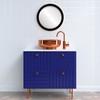 Flat Mirror - Manhattan Circle Frame - Matte Black