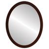 Flat Mirror - Manhattan Oval Frame - Mocha