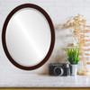 Lifestyle - Manhattan Oval Frame - Mocha