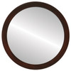 Flat Mirror - Manhattan Circle Frame - Mocha