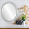 Flat Mirror - Manhattan Oval Frame - Bright Silver