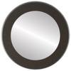 Flat Mirror - Avenue Circle Frame - Black Silver