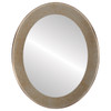 Flat Mirror - Avenue Oval Frame - Burnished Silver