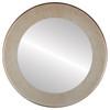 Flat Mirror - Avenue Circle Frame - Burnished Silver