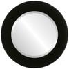 Beveled Mirror - Avenue Round Frame - Matte Black