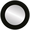 Flat Mirror - Avenue Circle Frame - Matte Black