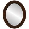Flat Mirror - Avenue Oval Frame - Mocha