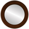 Flat Mirror - Avenue Circle Frame - Mocha