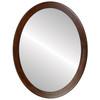 Flat Mirror - Vienna Oval Frame - Mocha