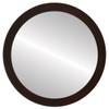 Flat Mirror - Vienna Circle Frame - Mocha
