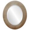 Beveled Mirror - Cafe Oval Frame - Burnished Silver